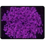 Queen Annes Lace in Purple Double Sided Fleece Blanket (Large)  80 x60  Blanket Front