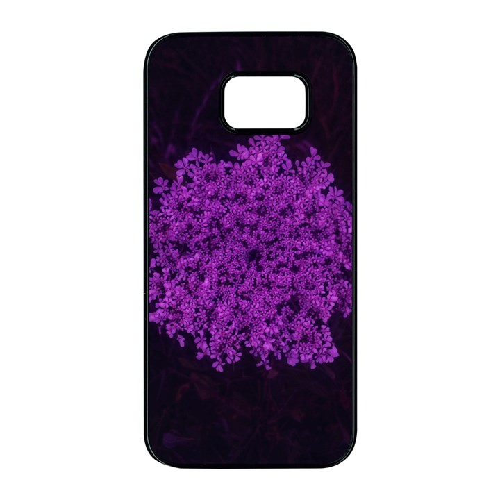 Queen Annes Lace in Purple Samsung Galaxy S7 edge Black Seamless Case