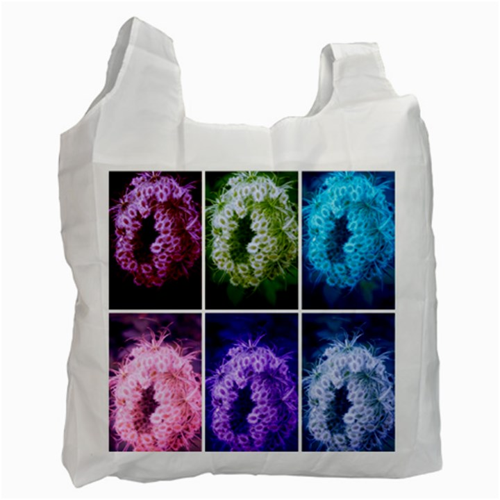 Closing Queen Annes Lace Collage (Horizontal) Recycle Bag (Two Side)