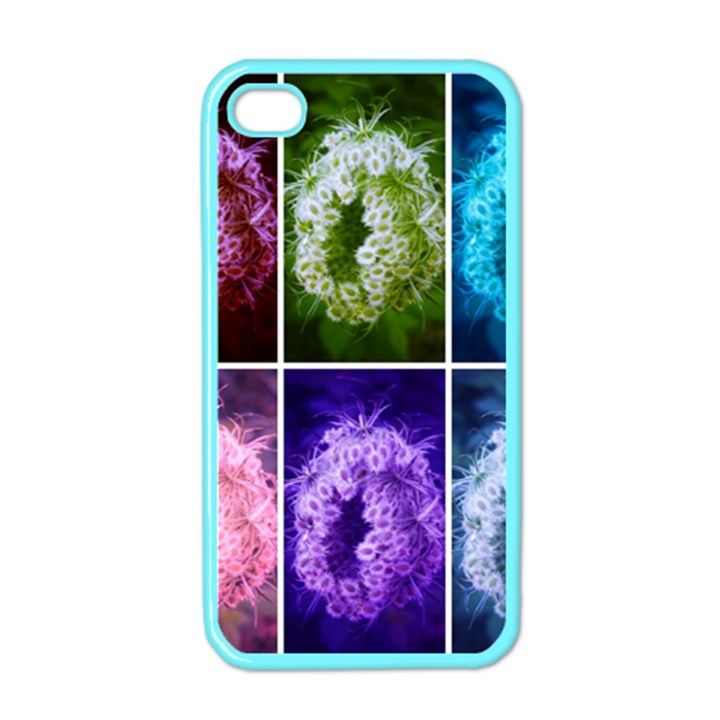 Closing Queen Annes Lace Collage (Horizontal) iPhone 4 Case (Color)