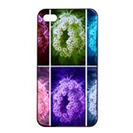 Closing Queen Annes Lace Collage (Horizontal) iPhone 4/4s Seamless Case (Black) Front