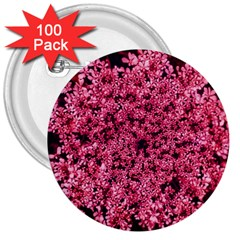 Queen Annes Lace In Red Part Ii 3  Buttons (100 Pack)