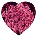 Queen Annes Lace in Red Part II Jigsaw Puzzle (Heart) Front