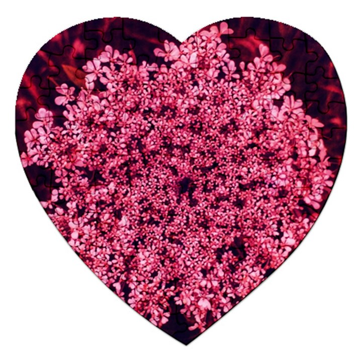 Queen Annes Lace in Red Part II Jigsaw Puzzle (Heart)