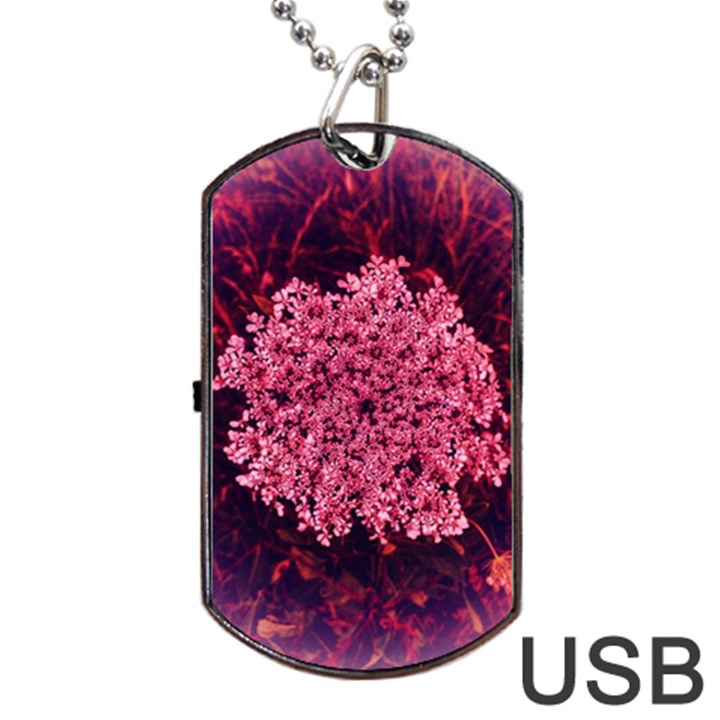 Queen Annes Lace in Red Part II Dog Tag USB Flash (Two Sides)