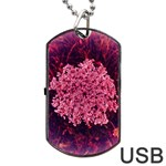 Queen Annes Lace in Red Part II Dog Tag USB Flash (Two Sides) Back