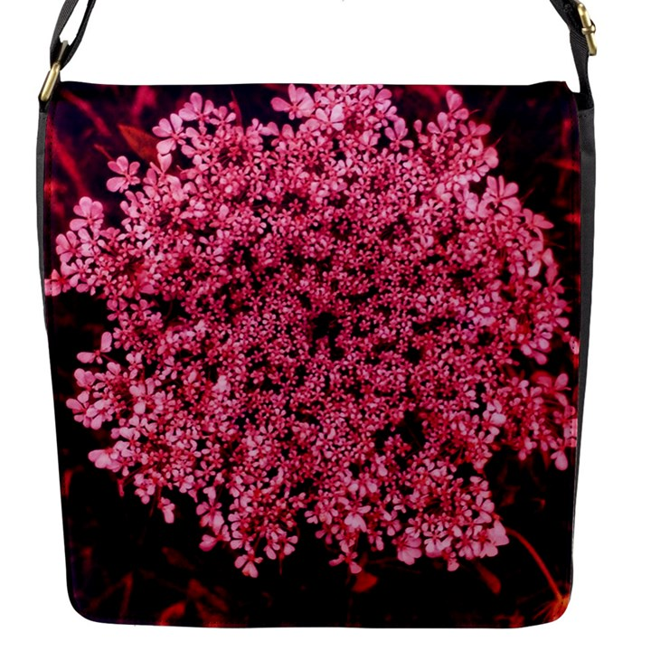 Queen Annes Lace in Red Part II Flap Closure Messenger Bag (S)