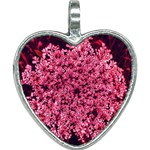 Queen Annes Lace in Red Part II Heart Necklace Front