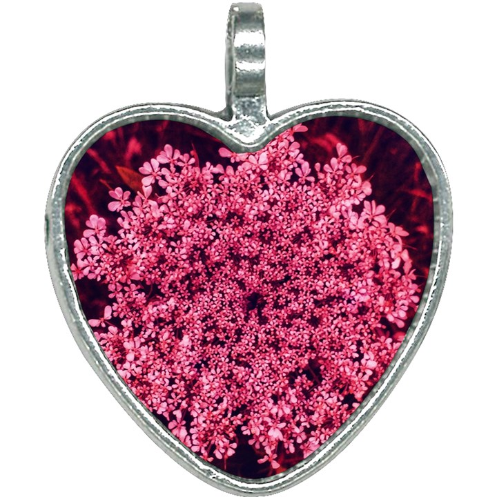 Queen Annes Lace in Red Part II Heart Necklace
