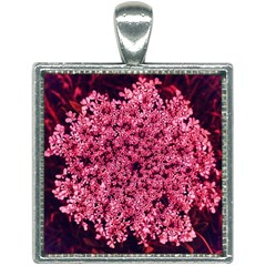 Queen Annes Lace In Red Part Ii Square Necklace