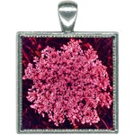 Queen Annes Lace in Red Part II Square Necklace Front