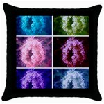Closing Queen Annes Lace Collage (Vertical) Throw Pillow Case (Black) Front