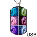 Closing Queen Annes Lace Collage (Vertical) Dog Tag USB Flash (One Side) Front