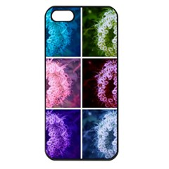Closing Queen Annes Lace Collage (vertical) Iphone 5 Seamless Case (black)