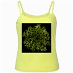 Queen Annes Lace in White Yellow Spaghetti Tank Front