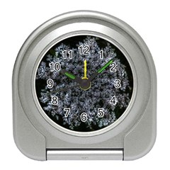 Queen Annes Lace In White Travel Alarm Clock