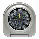 Queen Annes Lace in White Travel Alarm Clock Front