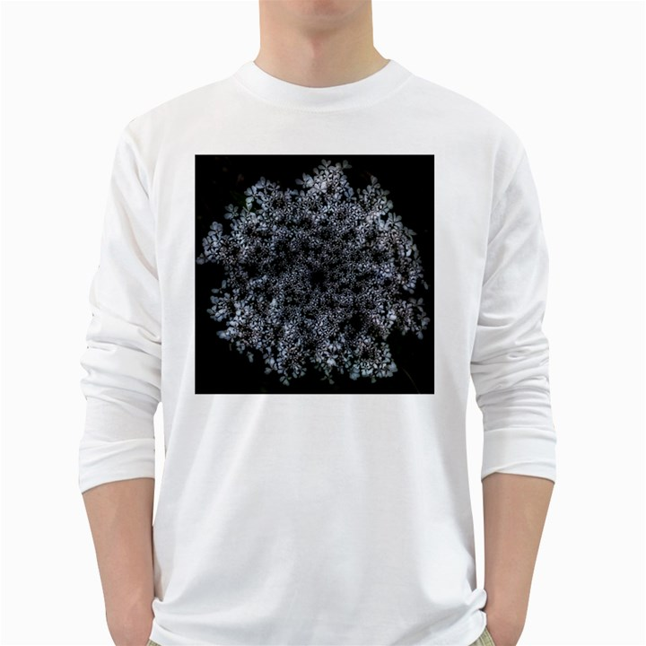Queen Annes Lace in White Long Sleeve T-Shirt