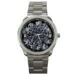 Queen Annes Lace in White Sport Metal Watch Front