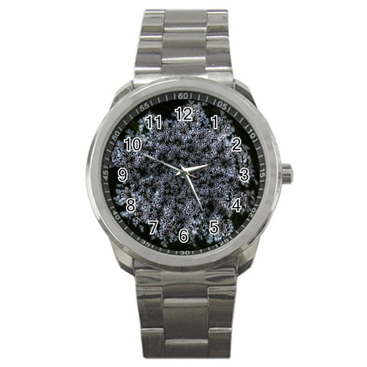 Queen Annes Lace in White Sport Metal Watch