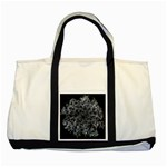 Queen Annes Lace in White Two Tone Tote Bag Front