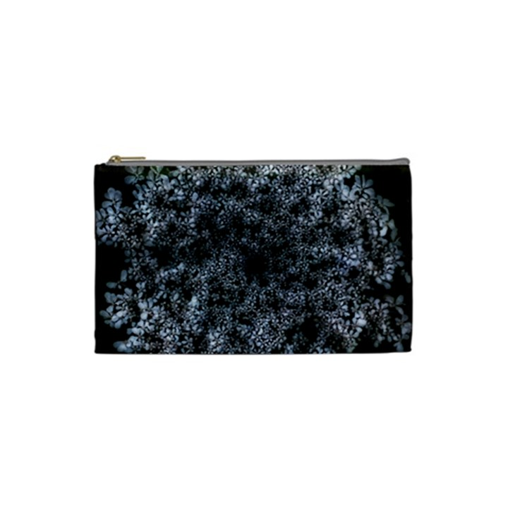Queen Annes Lace in White Cosmetic Bag (Small)