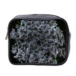 Queen Annes Lace in White Mini Toiletries Bag (Two Sides) Front