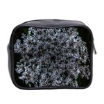 Queen Annes Lace in White Mini Toiletries Bag (Two Sides) Back