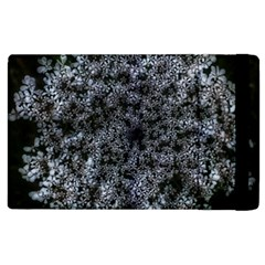 Queen Annes Lace In White Apple Ipad 3/4 Flip Case