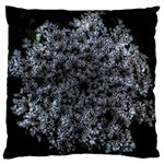 Queen Annes Lace in White Large Flano Cushion Case (One Side) Front