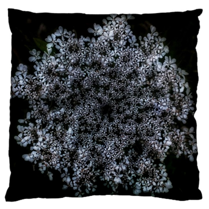Queen Annes Lace in White Large Flano Cushion Case (One Side)