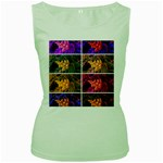 Sideways Sumac Collage Women s Green Tank Top Front