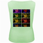 Sideways Sumac Collage Women s Green Tank Top Back