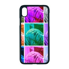 Color Block Queen Annes Lace Collage Iphone Xr Seamless Case (black) by okhismakingart