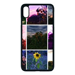 Sunflower Collage Iphone Xs Max Seamless Case (black)