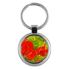 Red Roses Key Chains (round)