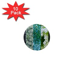 Queen Annes Lace Vertical Slice Collage 1  Mini Magnet (10 Pack)  by okhismakingart