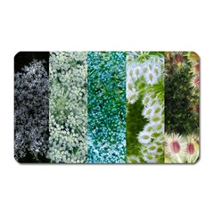 Queen Annes Lace Vertical Slice Collage Magnet (rectangular) by okhismakingart