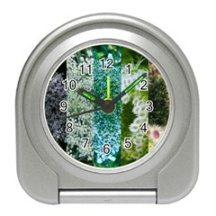 Queen Annes Lace Vertical Slice Collage Travel Alarm Clock