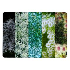 Queen Annes Lace Vertical Slice Collage Samsung Galaxy Tab 10 1  P7500 Flip Case by okhismakingart