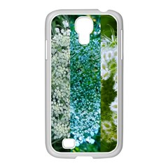 Queen Annes Lace Vertical Slice Collage Samsung Galaxy S4 I9500/ I9505 Case (white) by okhismakingart