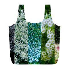 Queen Annes Lace Vertical Slice Collage Full Print Recycle Bag (l) by okhismakingart