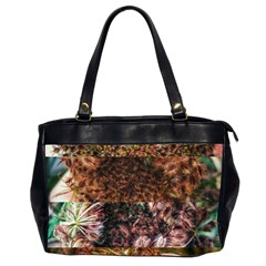 Queen Annes Lace Horizontal Slice Collage Oversize Office Handbag (2 Sides) by okhismakingart