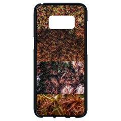 Queen Annes Lace Horizontal Slice Collage Samsung Galaxy S8 Black Seamless Case by okhismakingart