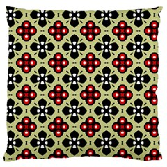 Under The Tiles Large Flano Cushion Case (two Sides) by WensdaiAddamns
