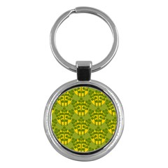 Texture Plant Herbs Green Key Chains (round)