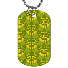 Texture Plant Herbs Green Dog Tag (one Side)