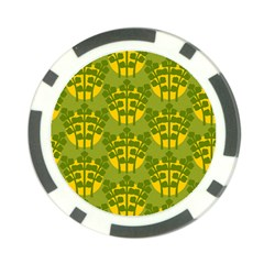 Texture Plant Herbs Green Poker Chip Card Guard