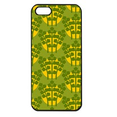 Texture Plant Herbs Green Iphone 5 Seamless Case (black)