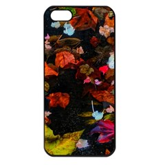 Leaves And Puddle Iphone 5 Seamless Case (black) by okhismakingart